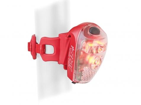 Světlo Author A-Star USB červená/čiré sklo