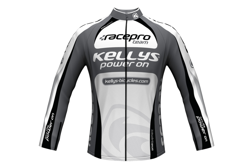 Dres Kellys Pro Team dlouhý rukáv grey pánský XXL